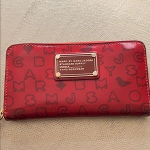 Marc by Marc Jacobs Red Patent Wallet